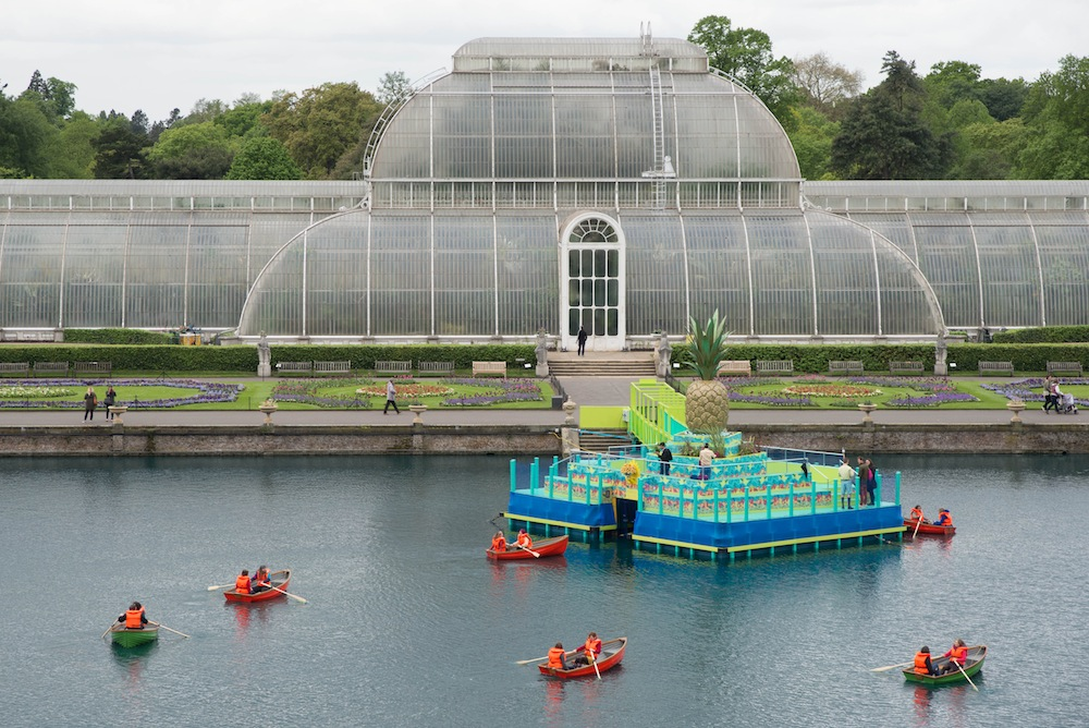 IncrEdibles festival, boating on the Palm House pond