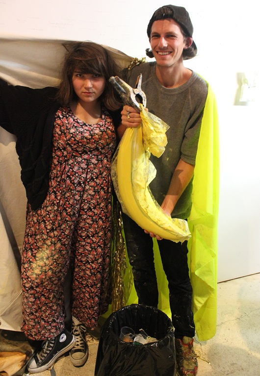 "Misha Kahn and Katie Stout's winning pumpkin came in the form of ""Banana"""