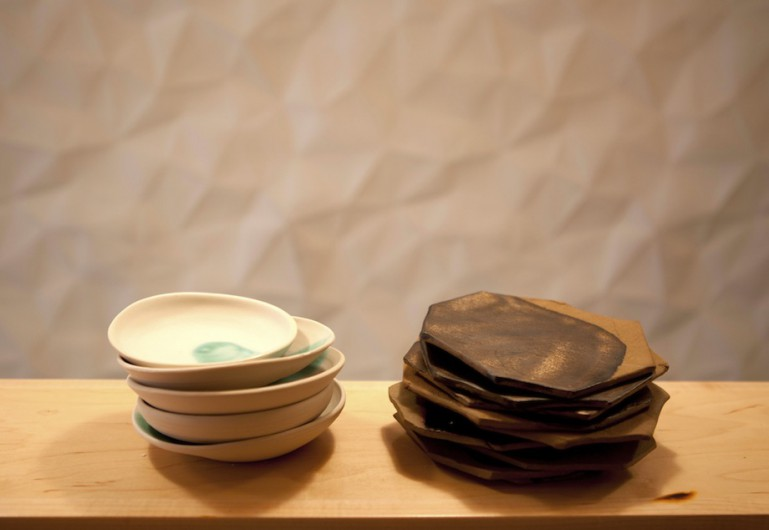 Levi\u0027s handmade tableware for New York Sushi Ko an 11-seat omakase restaurant. & One of a Kind Handmade Special: Helen Levi\u0027s Tableware for New ...