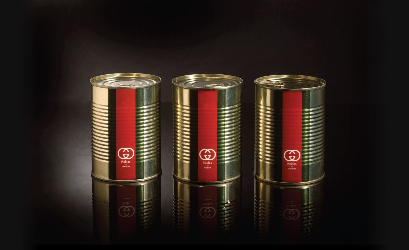 Looks good enough to eat gucci pickles chanel sausage for Brand arredamento di lusso
