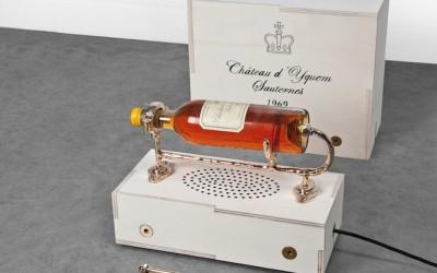 Chateau d'Yquem Millesime 1969 cast bronze wine holder by Studio Job and Chateau d'Yquem.