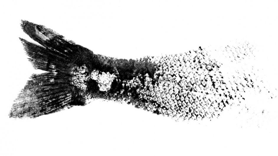 Gyotaku the japanese art of fish prints mold for Big fish printing