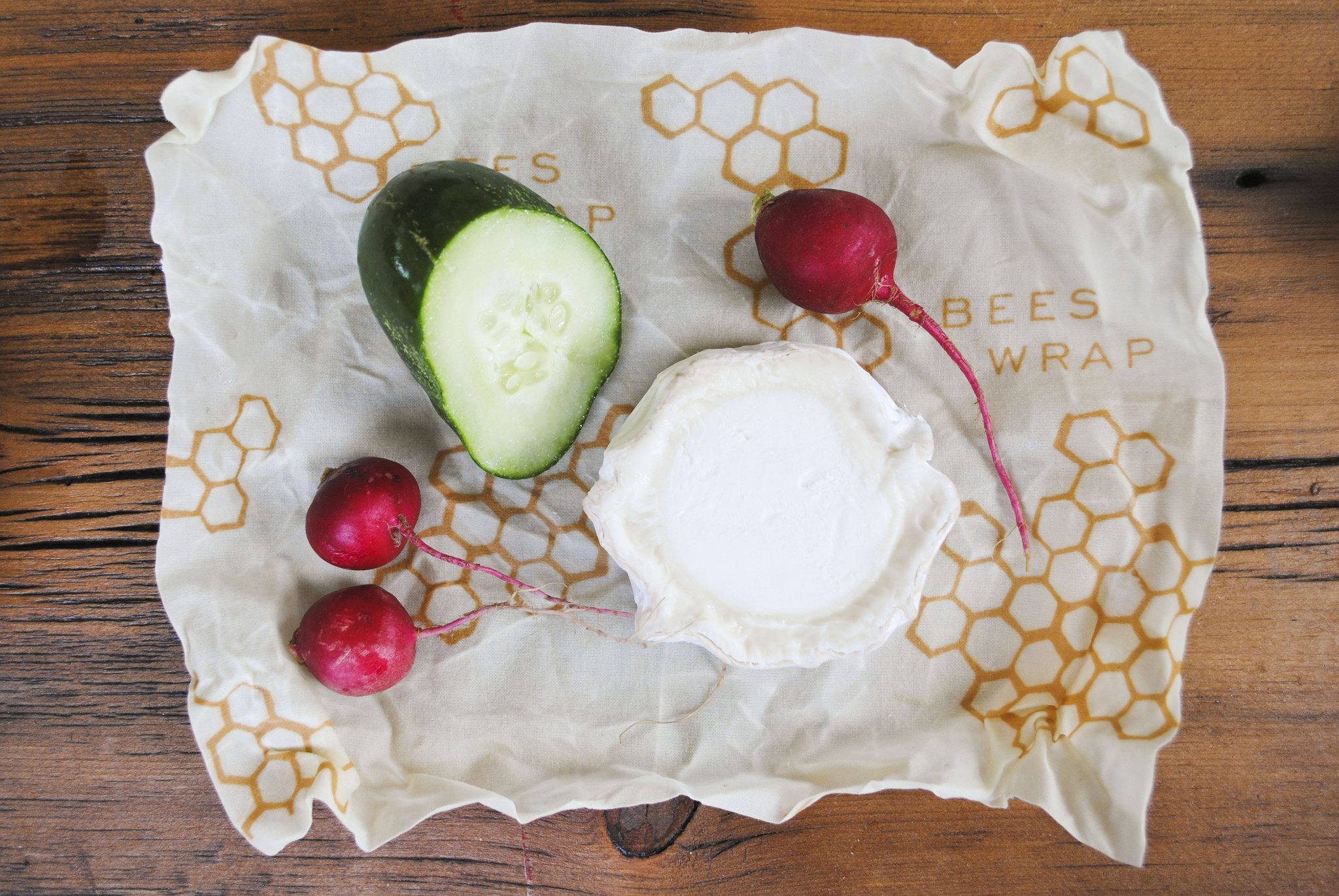 Bee's Wrap, a plastic wrap alternative derived from bee's wax.