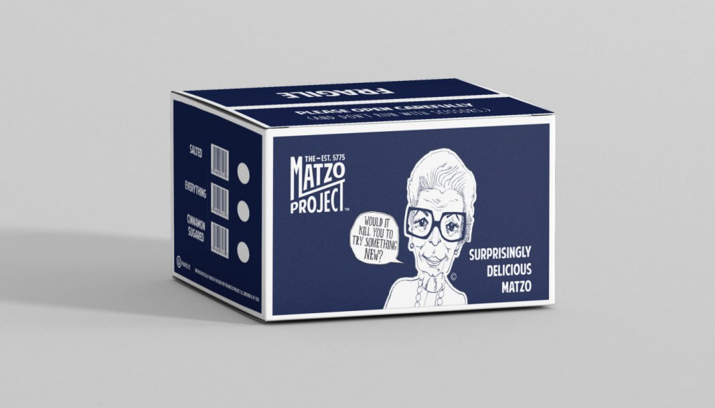 The Matzo Project shipping boxes. Image via Ezra Productions.
