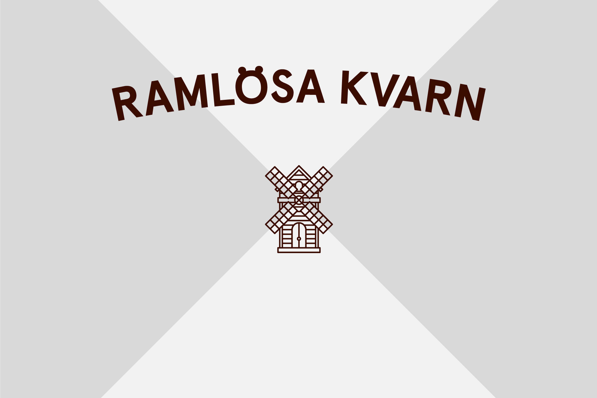 Amore's new logo for Ramlösa Kvarn. Image courtesy of Amore.