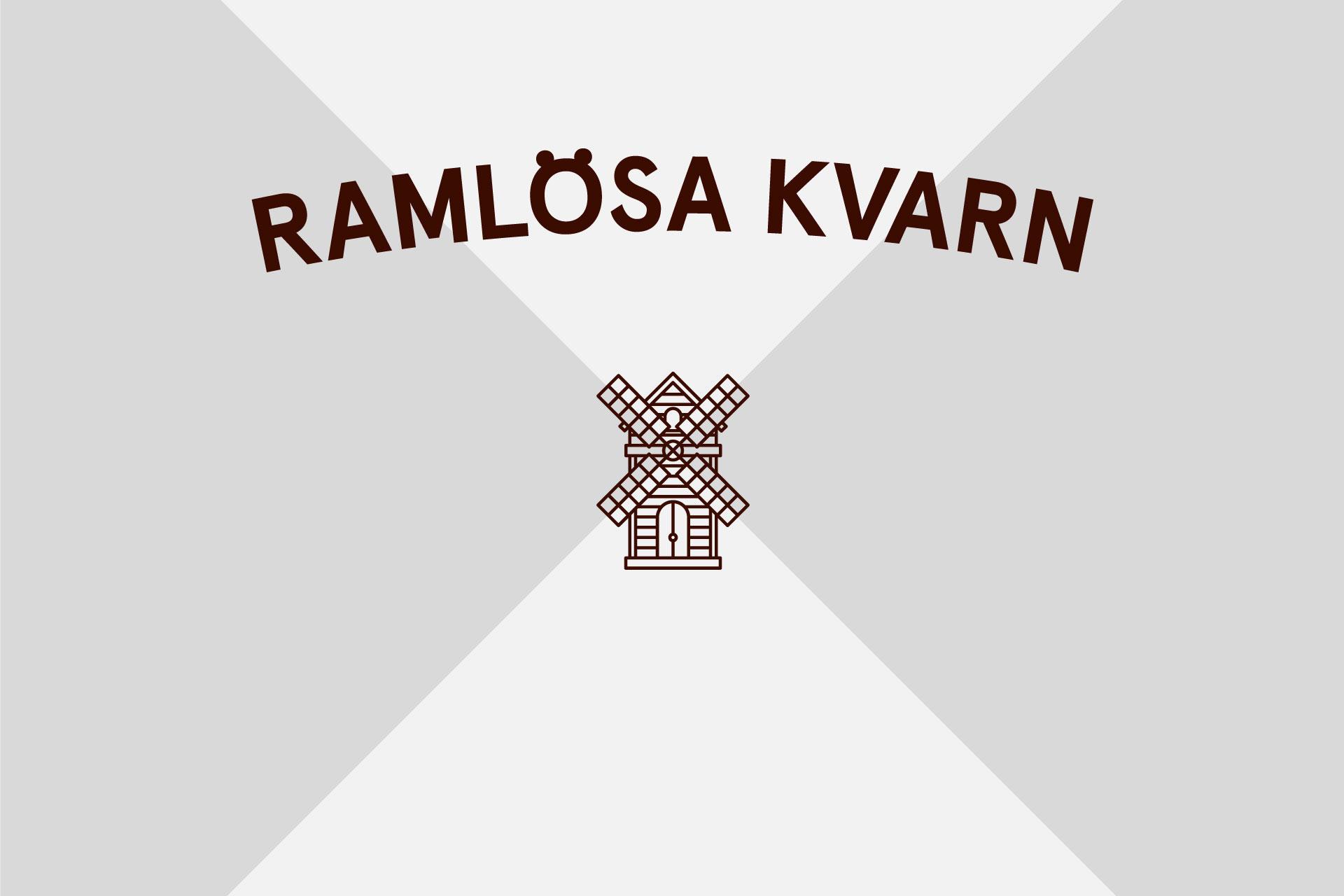 Amore's new logo for Ramlösa Kvarn. Image courtesy of Amore.