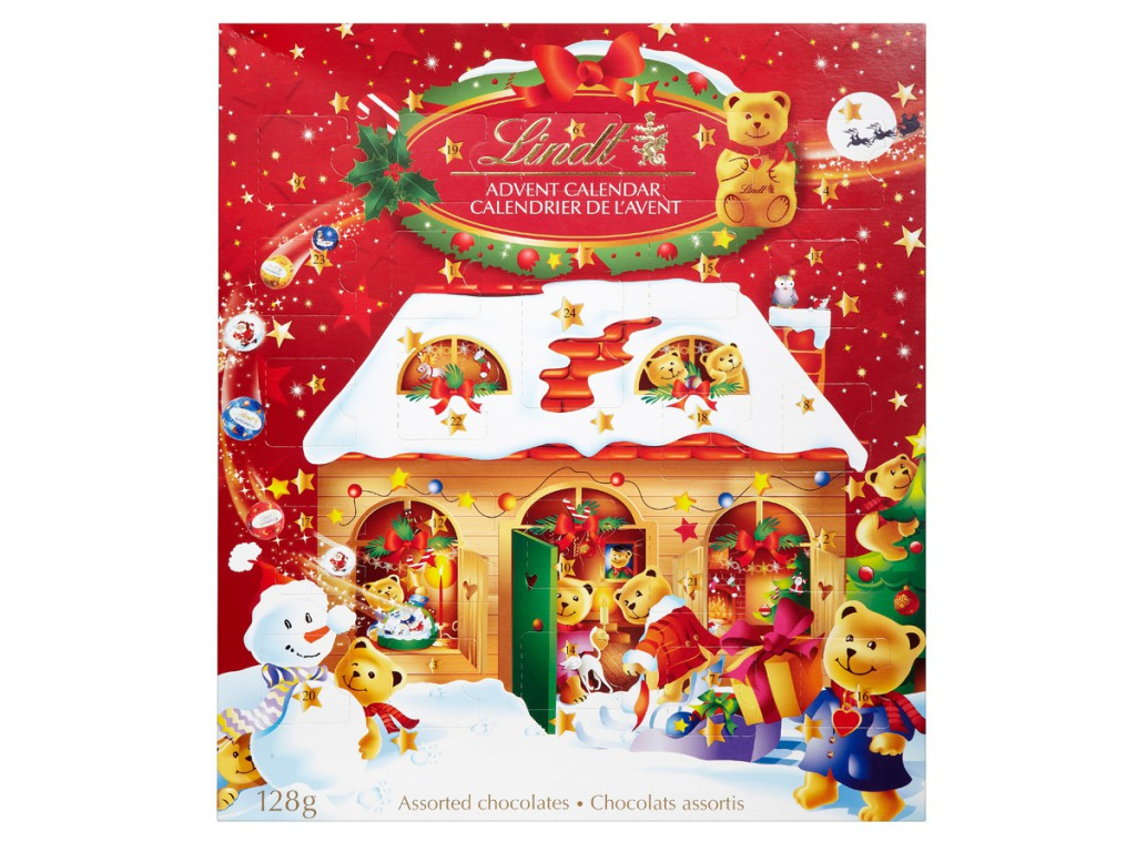 Lindt 2016 chocolate advent calendar