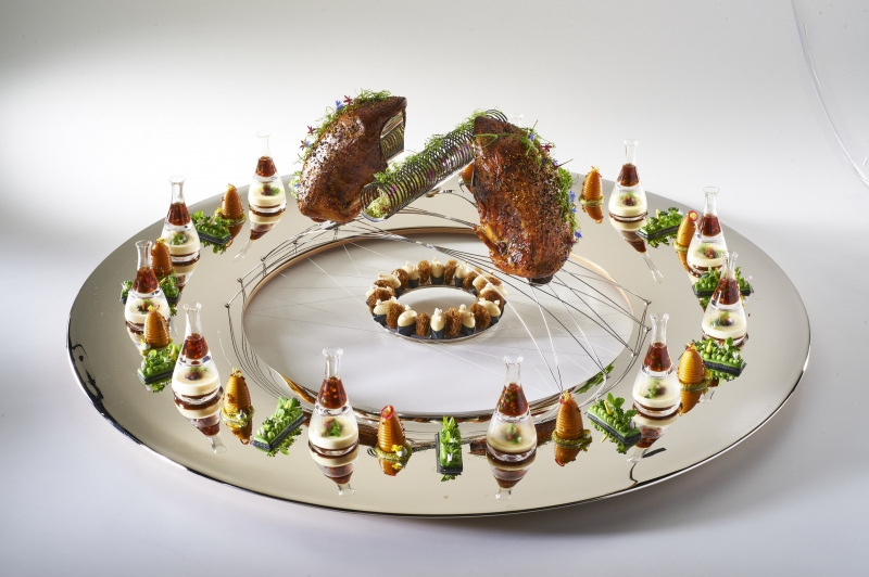 Team USA's Silver Winning Meat Platter from the 2015 Bocuse d'Or, designed by Crucial Detail