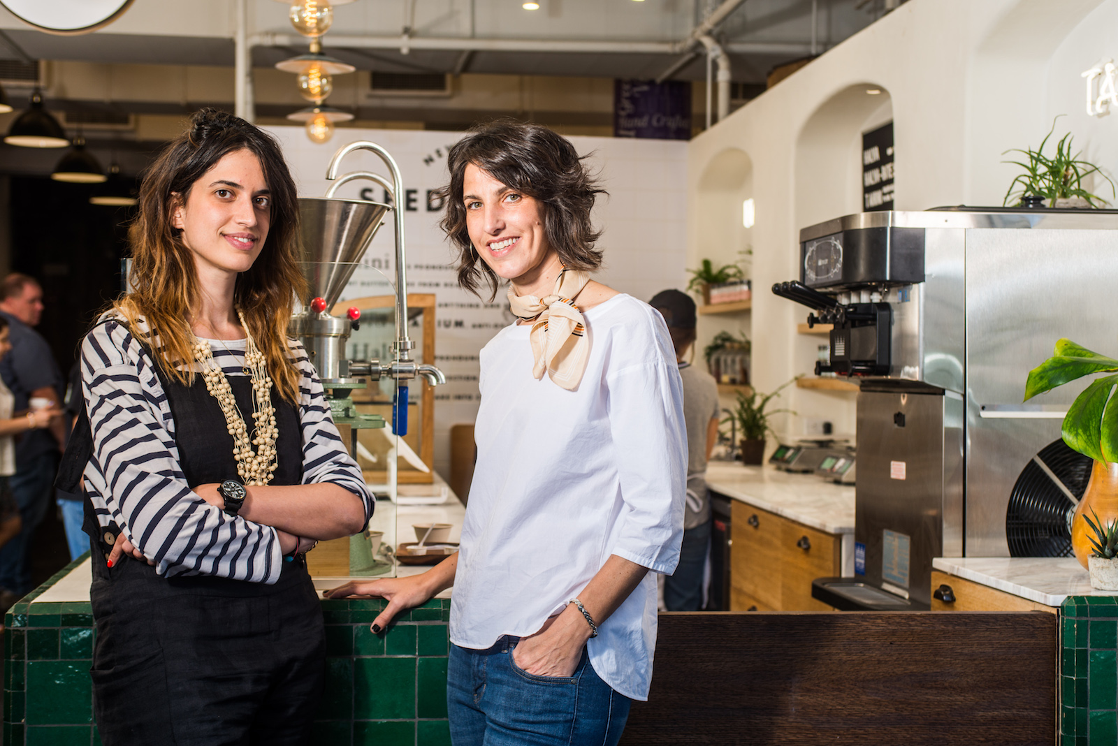 Portrait of Amy Morris and Anna Polonsky, co-founders of design studio The MP Shift.