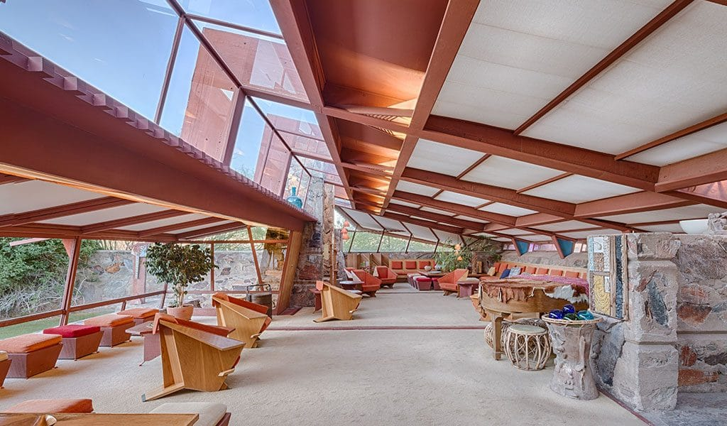 Architect Frank Lloyd Wright's Taliesin West studio also included a fully functional farm.