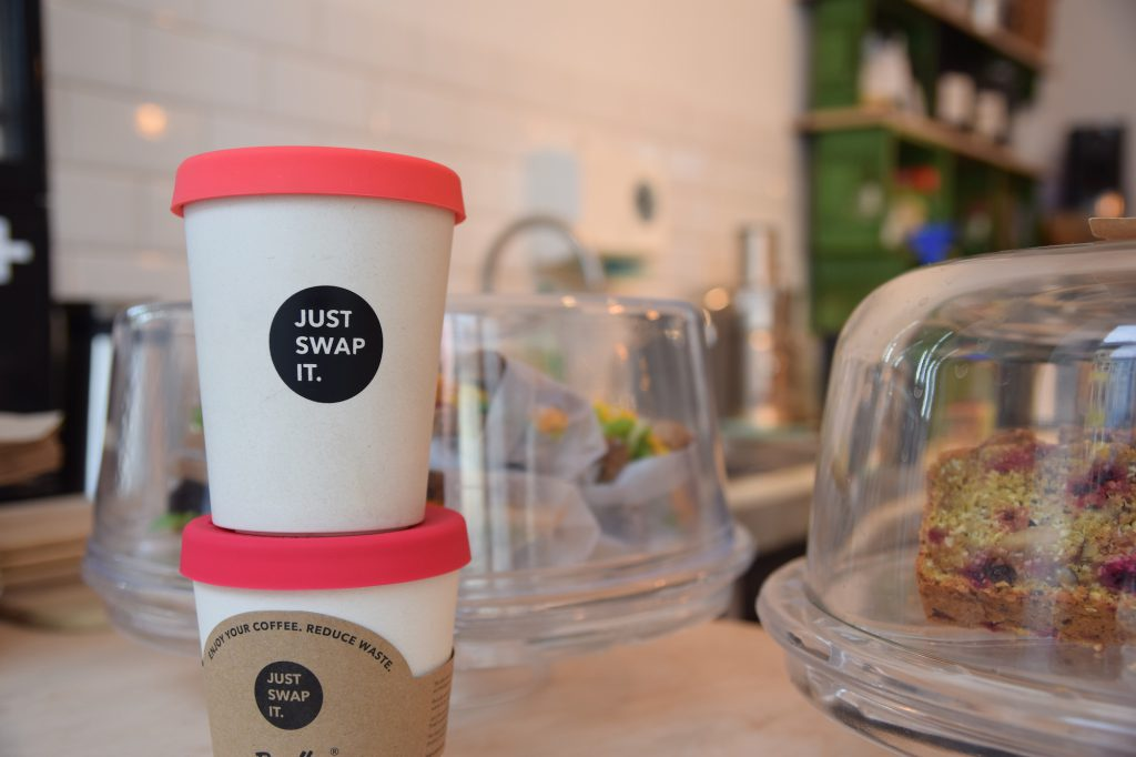 Just Swap It is a German reusable cup made from bamboo and resin