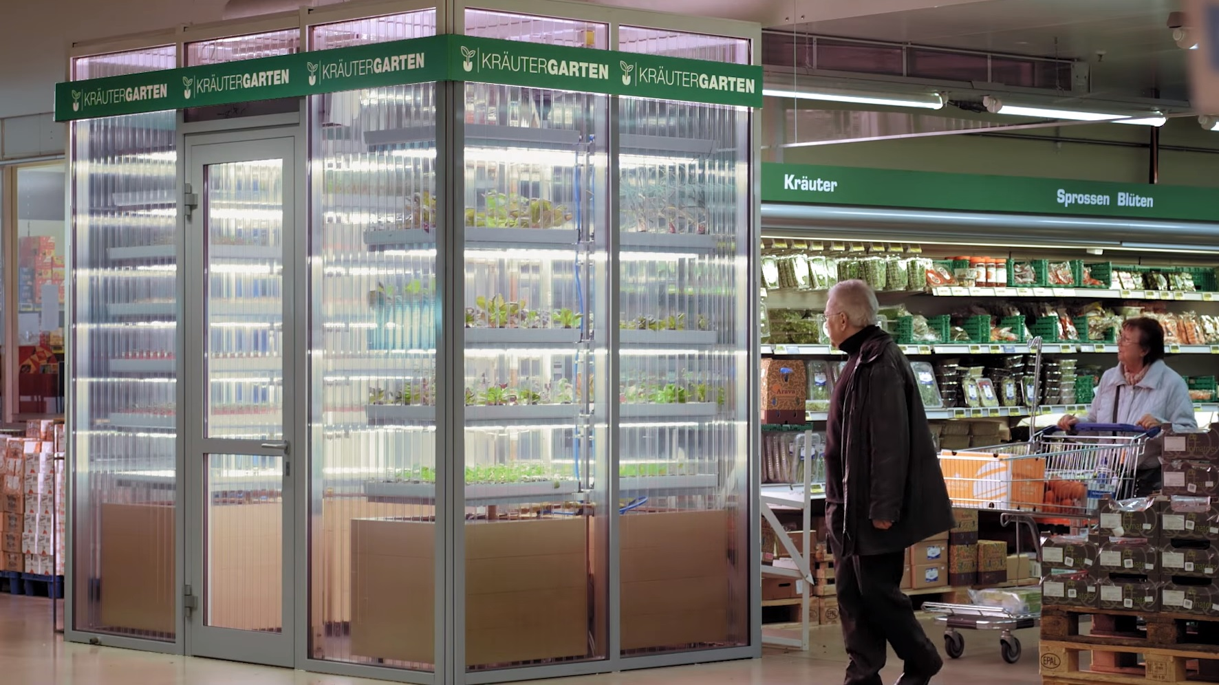 Infarm's Krautergarten is the first in-store farm in the world.
