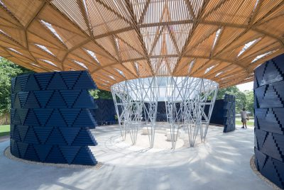 Diébédo Francis Kéré's open-air pavilion for the Serpentine Gallery