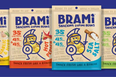 Brami lupini beans protein snack package