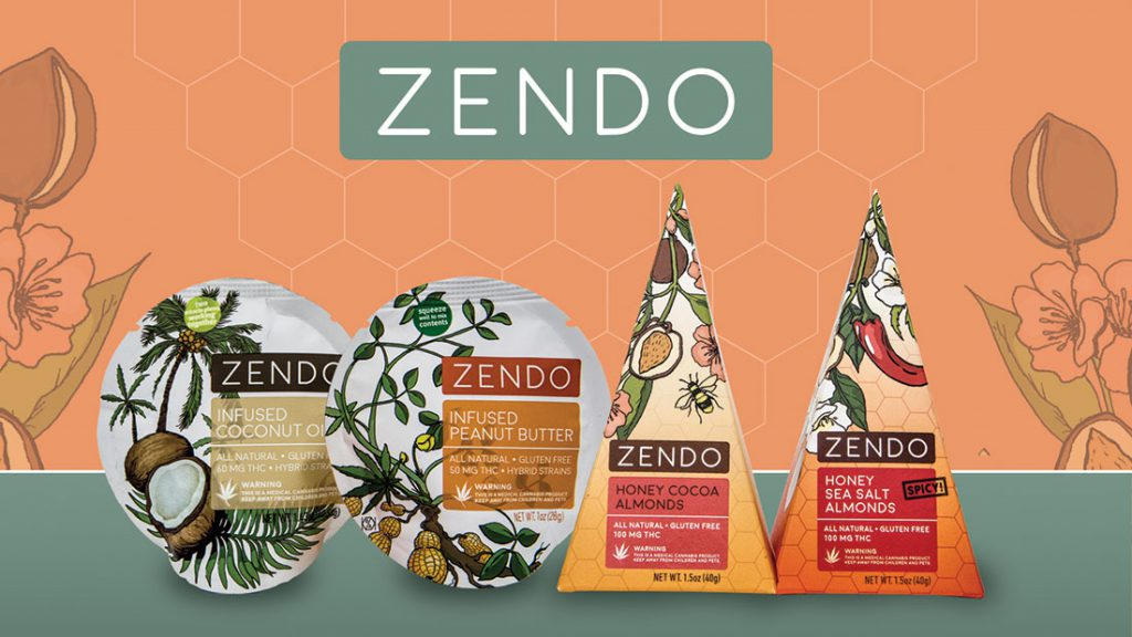Zendo packaged cannabis edibles peanut butter coconut oil
