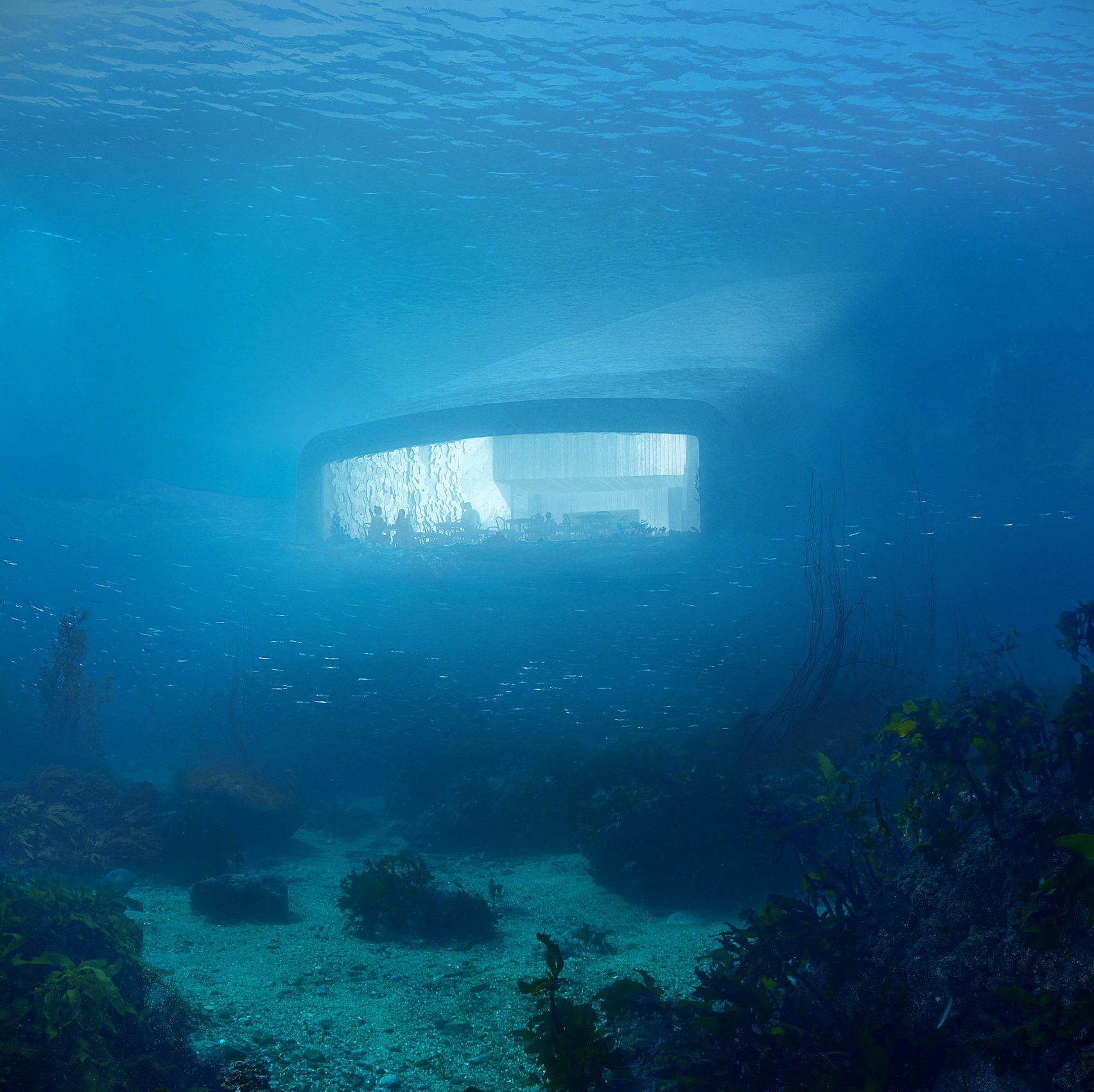 Snohetta has designed Europe's first under water restaurant and research center in Norway.