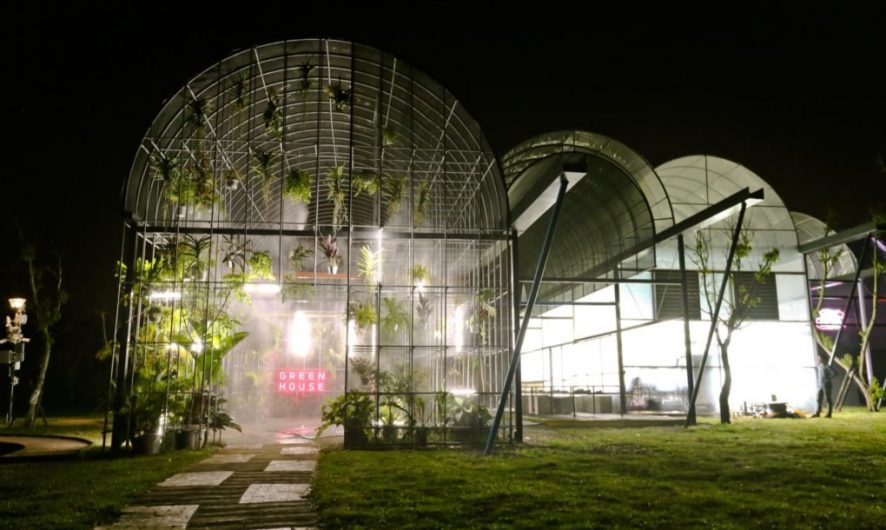 BIAS Architecture Has Designed An Experimental Greenhouse Installation,  Representing The Five Living Spaces Of A Home.